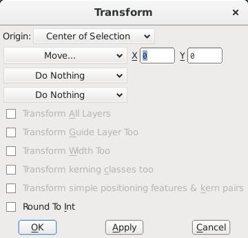 پنجره عملیات تبدیلی-حرکتی