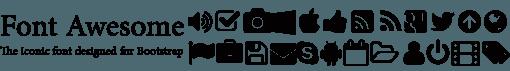 دانلود فونت Awesome؛ فونت نمادین طراحی شده برای بوت استرپ