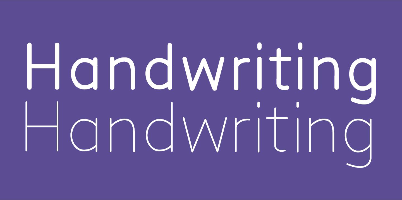 خانواده فونت دست نویس هاندرایتنج SF Handwriting