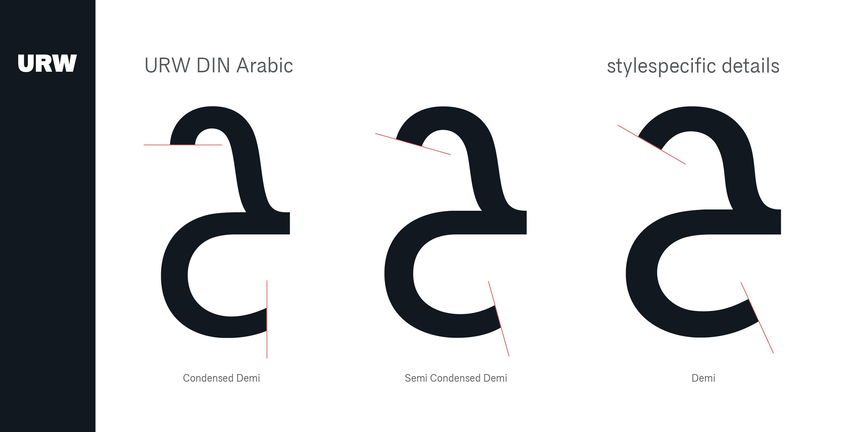 دانلود فونت عربی URW DIN Arabic Font Family