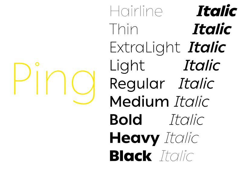 خانواده فونت 8 زبانه پینگ | Ping Font Family